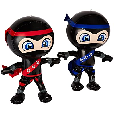 "Set of 6 Inflatable 24"" NINJAS/PARTY Decorations/INFLATES/Toys/Red/Blue/DECOR : Baby"