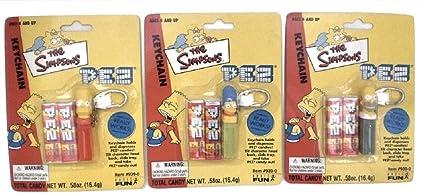 Amazon.com: Simpsons Pez Keychain Keyring Set of 3 Homer ...