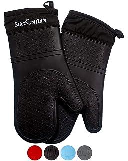 Guantes de horno, HUAFA cuero resistente al calor guantes para ...