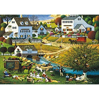 1000 Piece Jigsaw Puzzle- Charles Wysocki's -Hound of The Baskervilles-Adults Puzzle Game Toys Gift –Challenging, Perfect for Family Fun – Fun Indoor: Toys & Games