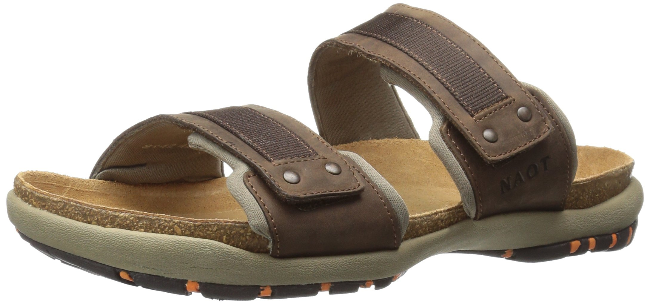 Naot Men's Climb Flat Sandal, Brown, 43 EU/10 M US