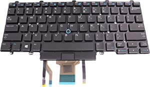 LeFix US Backlit Keyboard Frameless(Without Frame) for DELL Latitude E5250 E5270 E7250 E7270 DP/N:03P2DR
