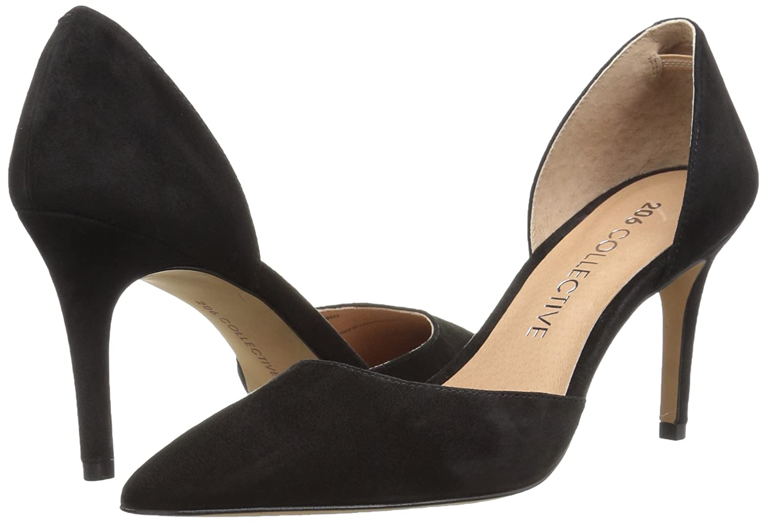 206 Collective Women's Adelaide D'Orsay Dress Pump B078B2GXDK 6.5 B(M) US|Black Suede