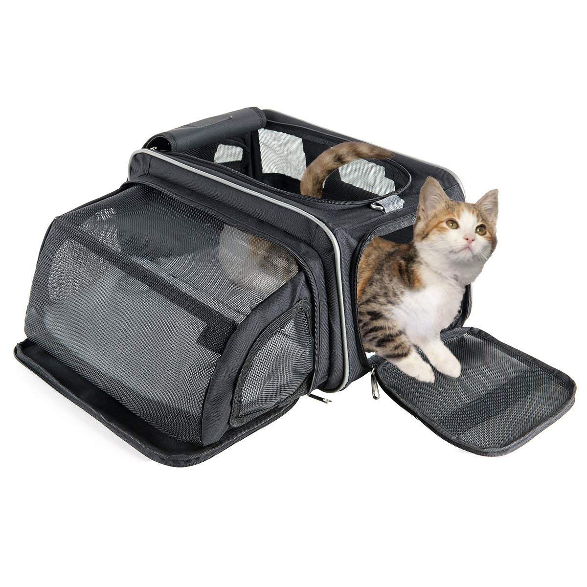 Long Fypo Dog Car Seat Belts Buckle, Pet Safety Seatbelt Stabilizer Adjustable Harness Predector Guard for Travel Auto Vehicle Black (Seatbelt (L))