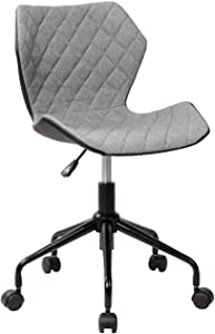 Techni Mobili Deluxe Modern Office Armless Task Chair. Color Grey