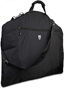TRAVANDO Garment Bag Suit Dress Carrier with Laptop Compartment - Business Travel Cover - Clothes Storage Luggage