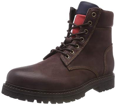 8e7c1aa801 Hilfiger Denim Herren Iconic Tommy Jeans Nubuck Chukka Boots Braun (Coffee  Bean 212) 41