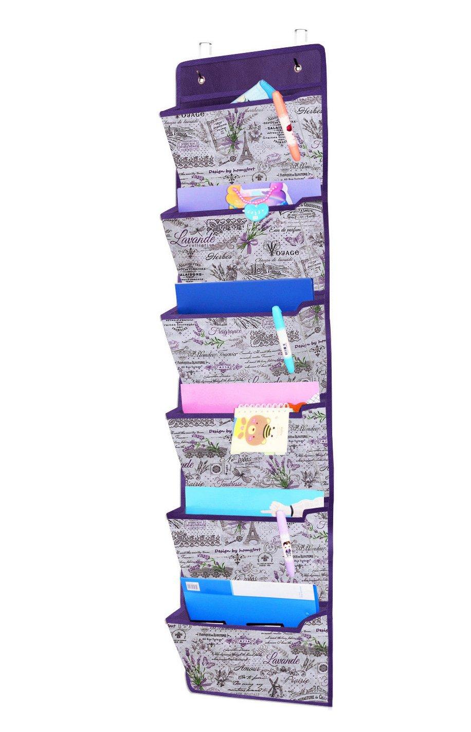Gafas de Sol Ropa Estanter/ías de Tela para Colgar en Las Puertas o en la Pared homyfort Estanteria Colgante para Organizar Gris Colgadores de Puerta con 6 Bolsillos para Juguetes MAGAZINE1