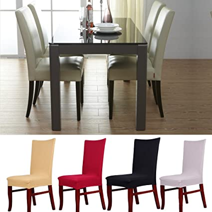 15e81564b Buy Generic Paddy Stretch Short Removable Dining Room Stool Chair Cover  Slipcovers - Black Online at Low Prices in India - Amazon.in