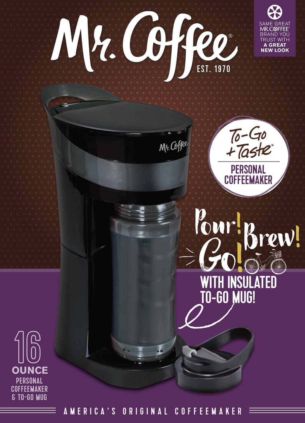 Coffee Pour Mr Brew Tangerine Orange ;;; Go Personal Coffee Maker
