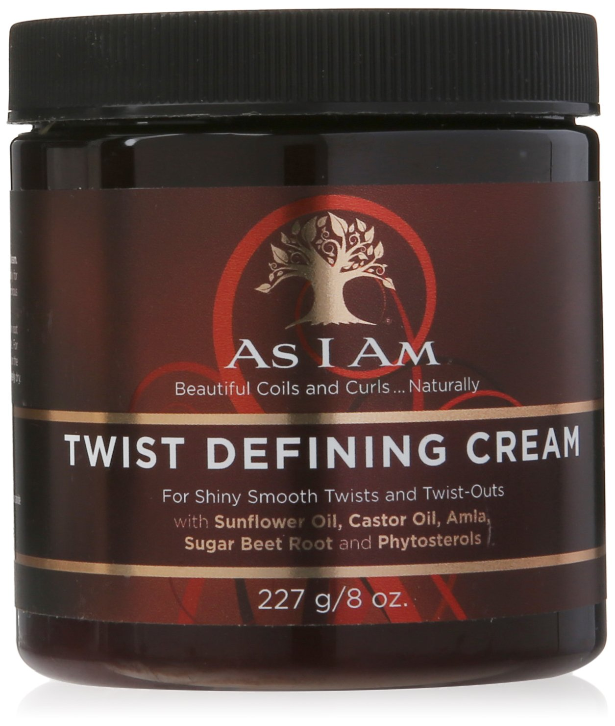 As I Am Twist Defining Cream - 8 Ounce - with Castor oil and Phytosterols