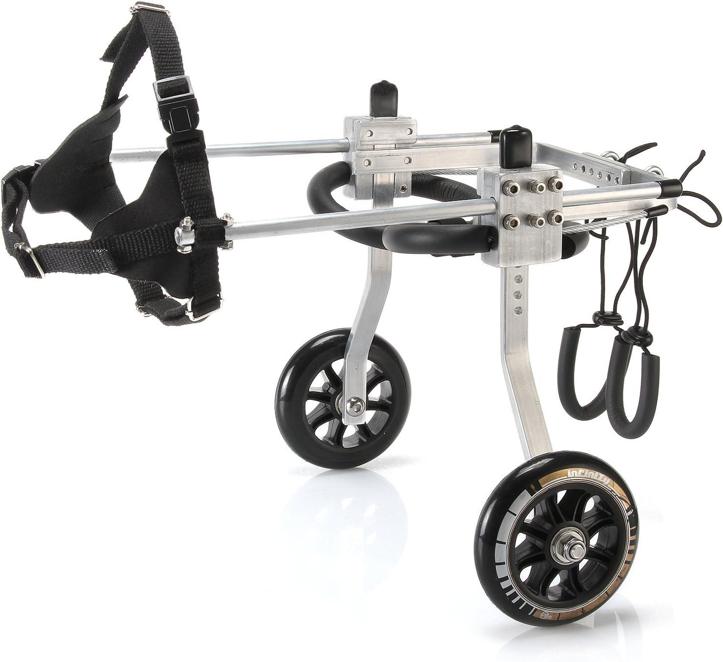 Anmas Sport Silla de ruedas ajustable para perros pequeños (XS), peso de 5 a 9 kg, patas traseras rehabilitación, peso ligero (M)