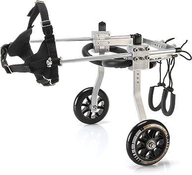 Anmas Sport Silla de rueda ajustable perros pequeños, peso de 5 a ...