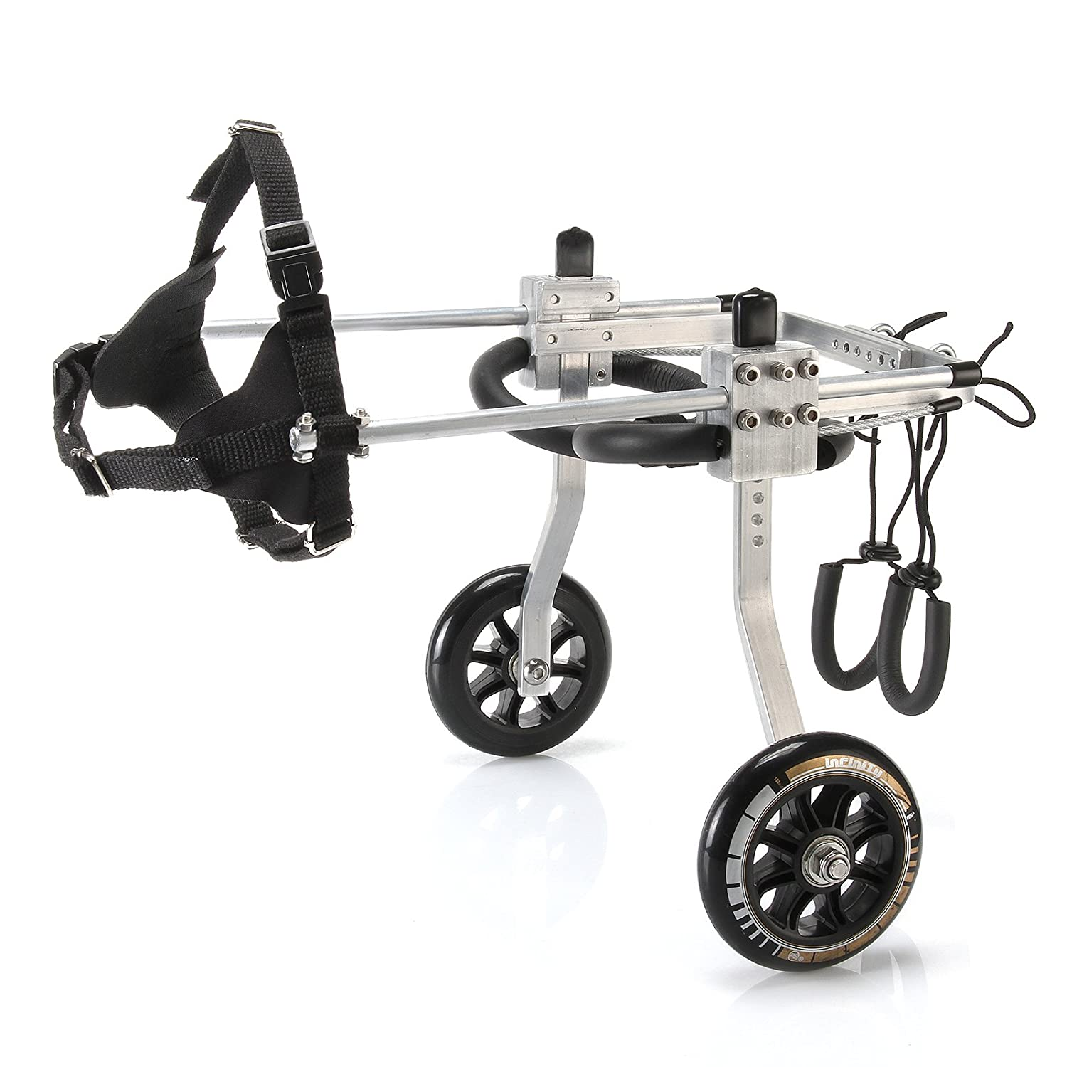 L Anmas Sport Adjustable Dog Wheelchair for Small Dog (XS), weight 5 to 20 lbs, hind legs Rehabilitation, light weight (L)