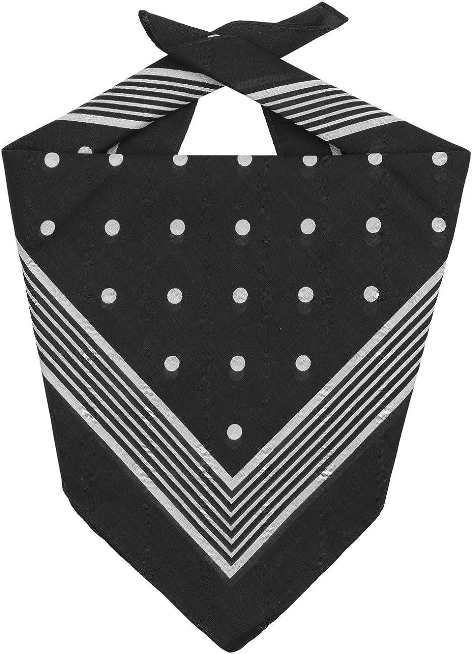 Lipodo Dots Bandana Halstuch Kopftuch Stirnband Schal Gesichtsschutz f/ür Damen und Herren Kinder Winter Sommer