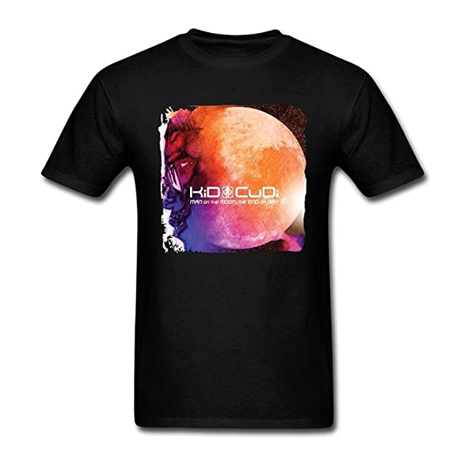 f57601ae Image Unavailable. Image not available for. Color: Top-Tshirt Men's Kid  Cudi Man On The Moon The End Of Day ...