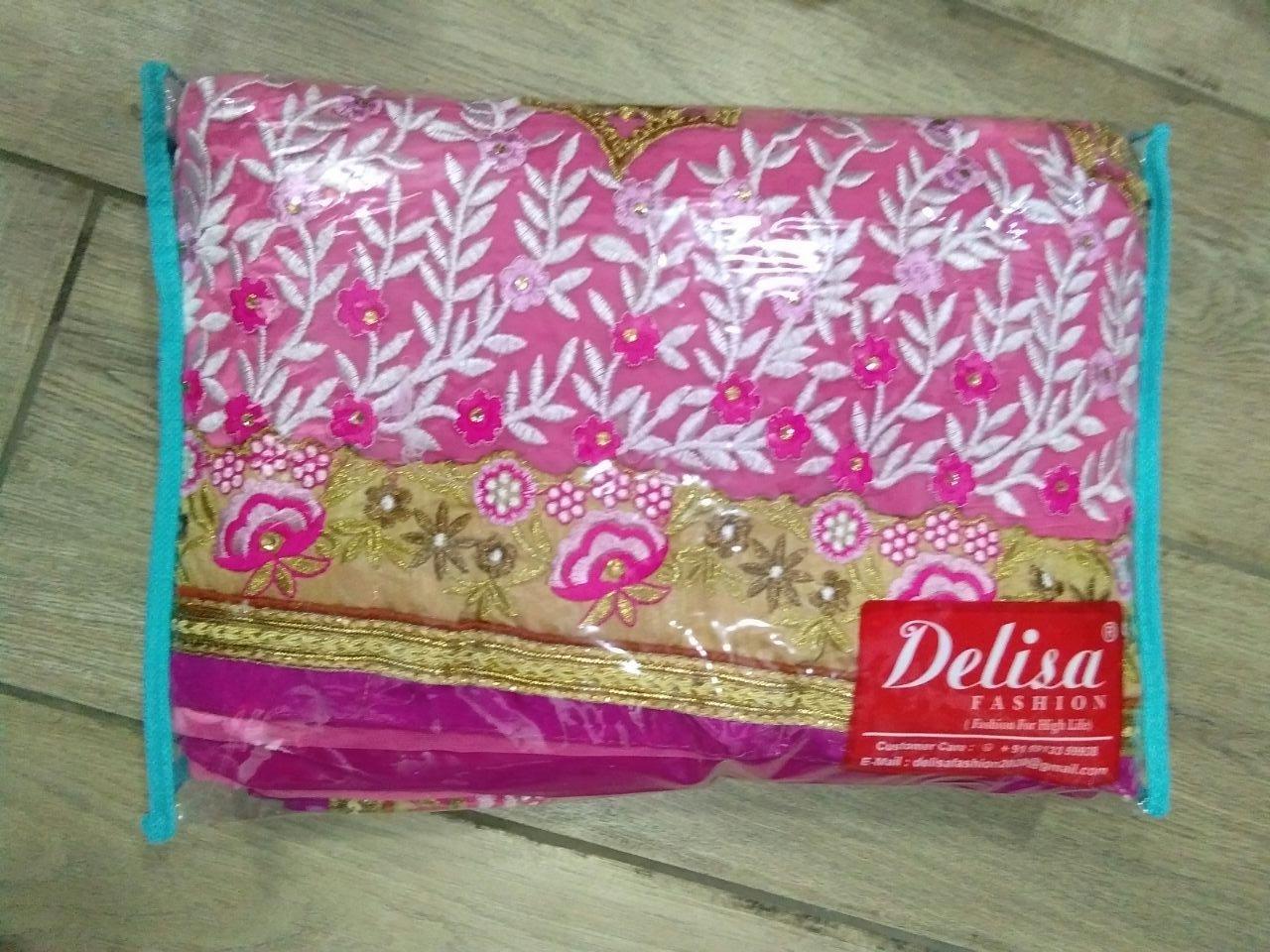 Delisa Fashion Ethnic Designer Bollywood Party Wear Pakistani Indian Saree tirupati by Delisa (Image #5)