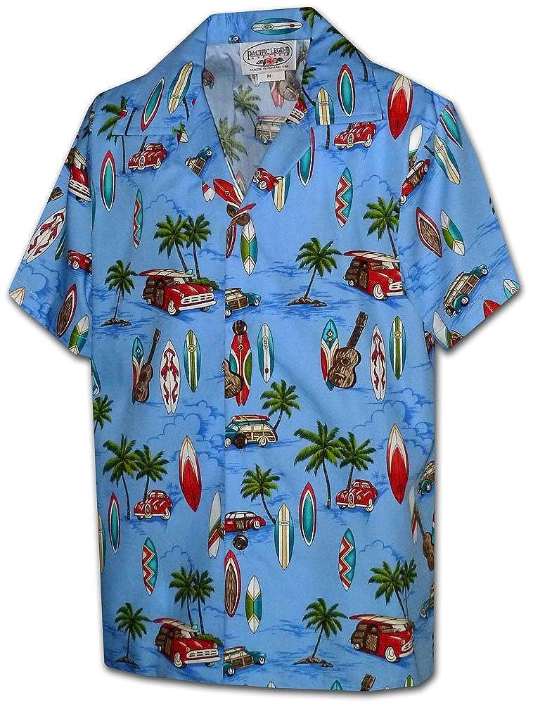 Pacific Legend Hawaiian Shirts for Boys Woody Palms