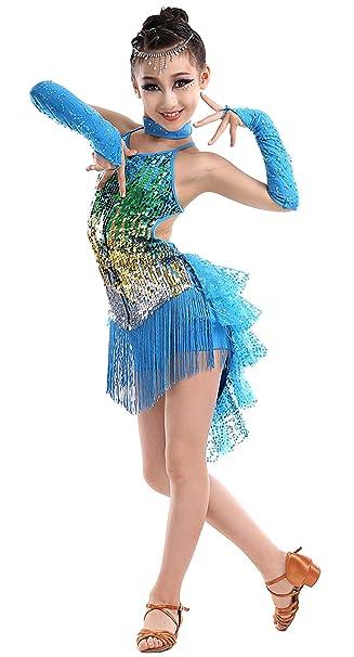 Happy Cherry - Vestido de Danza Latino para Niñas Traje ...
