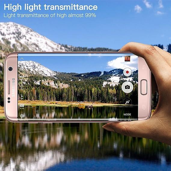 Samsung Galaxy S7 Edge Protector de pantalla, yica 3d-curved templado vidrio Protector de pantalla para Samsung Galaxy S7 Edge, Dureza 9H, sin burbujas, ...