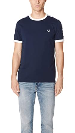 e06b05c45 Fred Perry Men s Taped Ringer T-Shirt White  Amazon.co.uk  Clothing