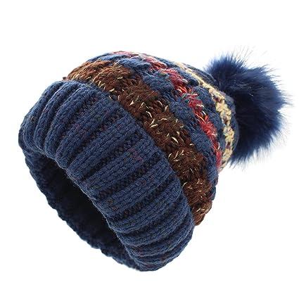 6e24751206f1f Bobble sombrero mujer - Slouchy gorro de punto gorro de invierno gorro de  invierno para mujeres