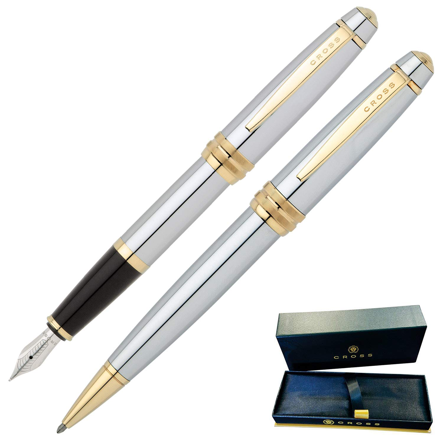 Dayspring Pens | Engraved/Personalized Cross Bailey Medalist Ballpoint and Fountain Gift Pen Set. Custom Engraved Case Included by Dayspring Pens (Image #4)