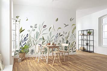 Komar X7 1042 Papier Peint Non Tisse Motif Bretzes 350 X 250 Cm 7 Panneaux Largeur De Bande 50 Cm Prairie Fleurie Decoration Murale Papier Peint Mural Design X7 1042 Bleu Vert Blanc Amazon Fr Bricolage