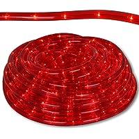 Lichterschläuche für Innen- und Außenbereich mit Modellauswahl Lichterschlauch rot oder weiß Lichterkette Schlauch wasserdicht Lichtschlauch strombetrieben (Rot, 12m)