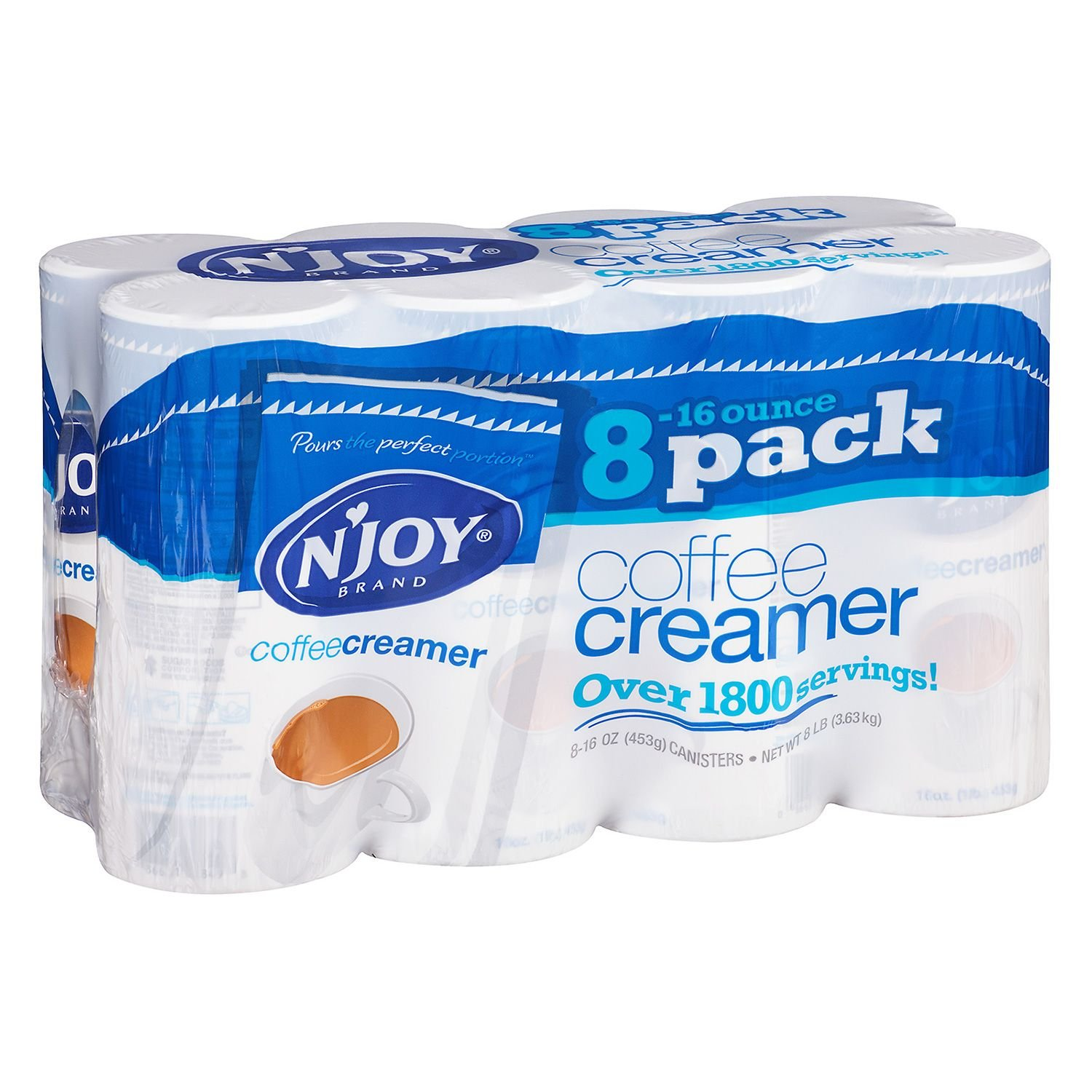 N'Joy Coffee Creamer (16 oz., 8 pk.) pack 3 by N'Joy