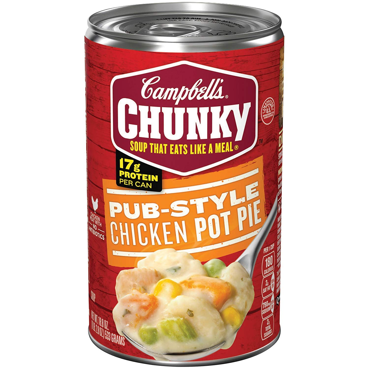 Campbell's Chunky Soup, Pub-Style Chicken Pot Pie Soup, 18.8 Ounce Can (12 Pack)