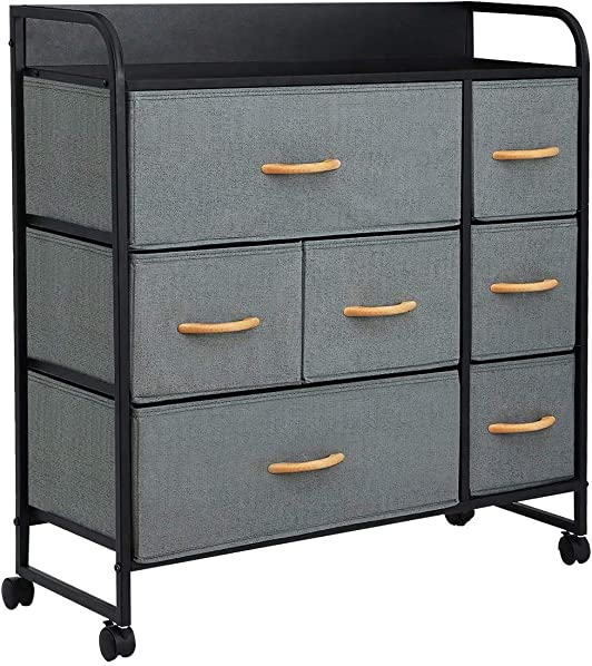 KINGSO 7 Drawer Dresser Storage Tower Organizer Unit