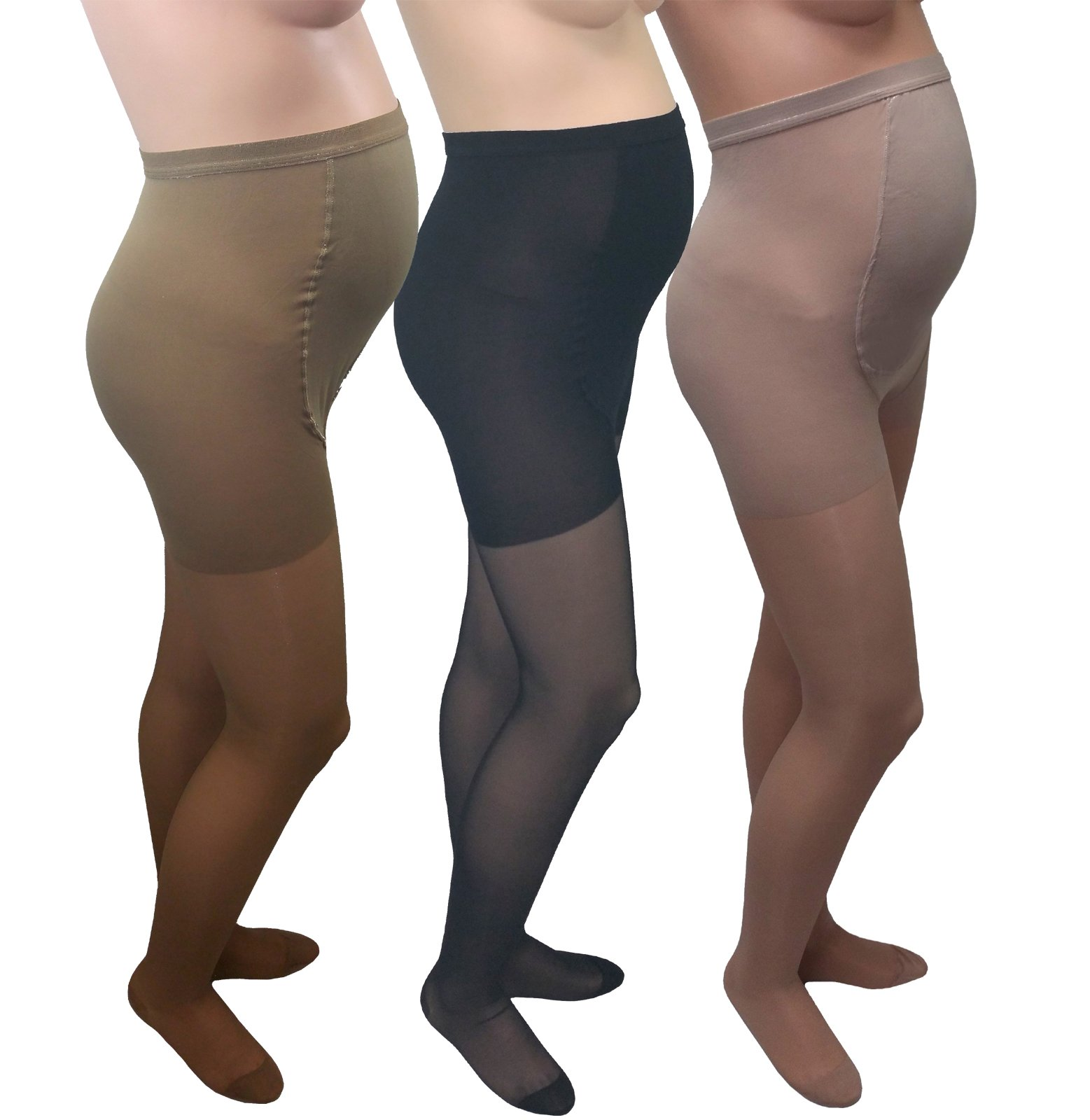 GABRIALLA Maternity Pantyhose - Compression (20-22 mmHg): H-260, 3 Count, Petite, Mixed