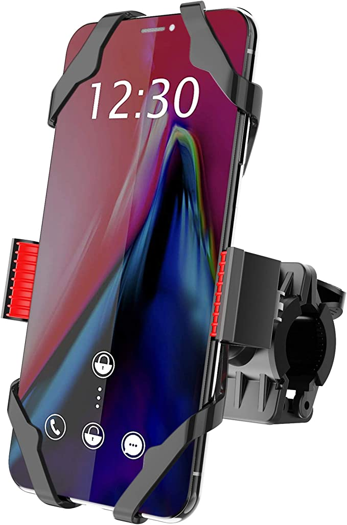 UPFOX Universal Bike Phone Mount 360/º Rotatable Bicycle Motorcycle Handlebar Cell Phone Holder Compatible with iPhone11 Pro Max Xs XR X 6S 7 8 Plus Galaxy Most Phones in 4.7 to 6.5