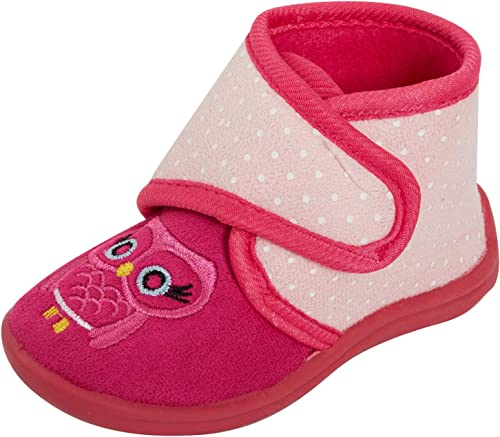Infant Baby Girls Slippers Touch Fastening Cat Bootee Ankle Shoes Size
