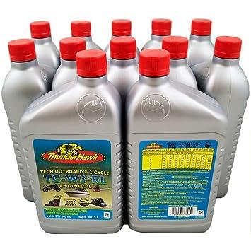 Thunderhawk 2 Stroke TC-W3 aceite de motor, 1 Qt botella (funda de 12): Amazon.es: Deportes y aire libre