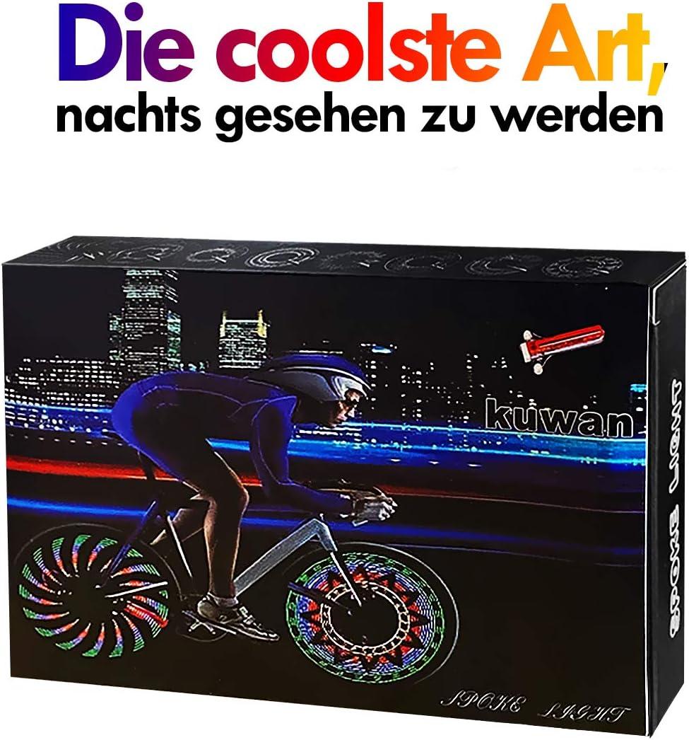 Glueckme Radfahren Fahrrad Rad Lichter Fahrrad Speichen Lichter IP67 wasserdichte Fahrrad Rad Lichter Sichere Fahrrad Felgen Lichter 6-TLG