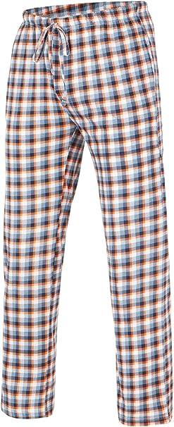 Di Ficchiano - Pantalones largos de pijama para hombre Patrón de cuadros 4. 8X-Large: Amazon.es: Ropa y accesorios