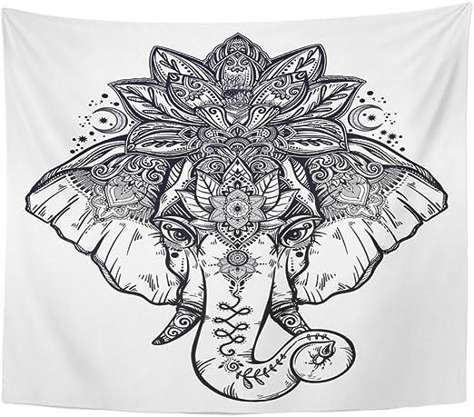 Tapiz con diseño de mandala de 50 x 60 cm para decoración del ...