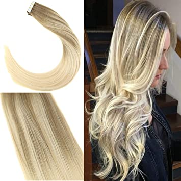 Youngsee 14 Inch Tape Hair Extensions Human