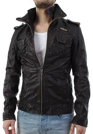 30fa53791 superdry mens RYAN leather jacket coat black large MS5IY028F2 ...