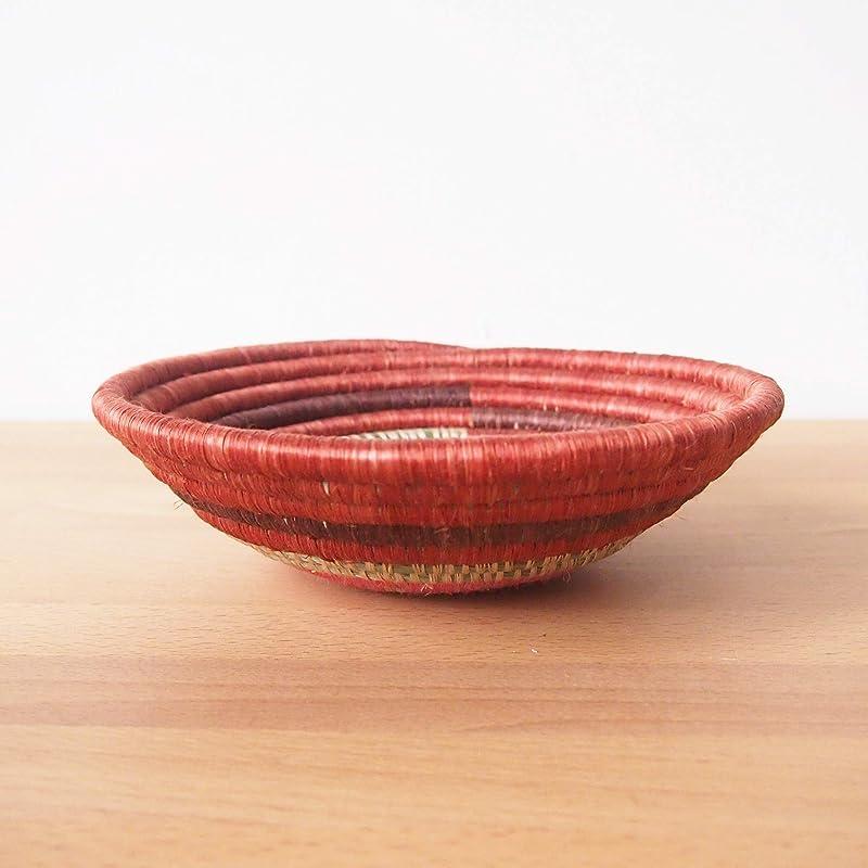 Rust Sweetgrass Small African Basket- Shyanda  Rwanda Basket  Sisal /& Sweetgrass Woven Basket  Pink Brick