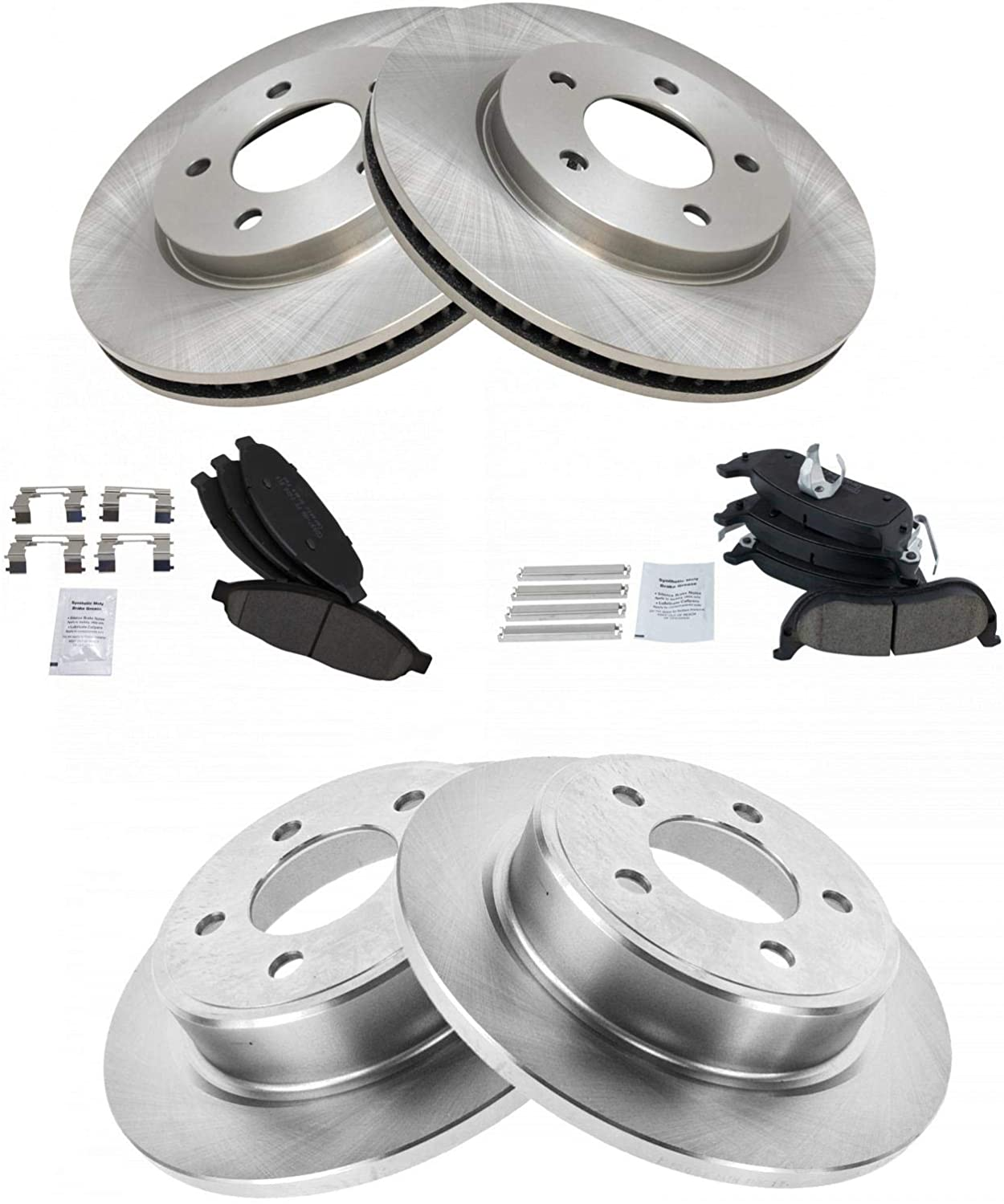 Rear Brake Rotors and Metallic Pads 2004 2005 2006 2007 2008 CHRYSLER PACIFICA