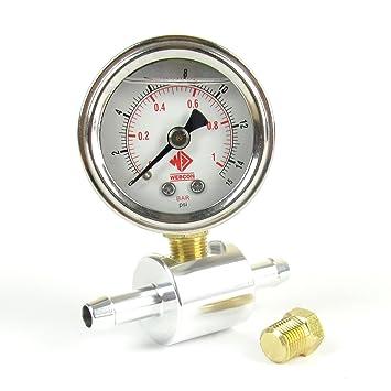 71xafxL23tL._SY355_ weber dellorto solex mikuni twin carbs in line fuel pressure gauge