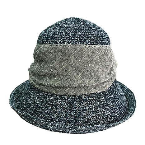 Y-WEIFENG New Primavera y Verano Protección Solar Crochet Gorra ...