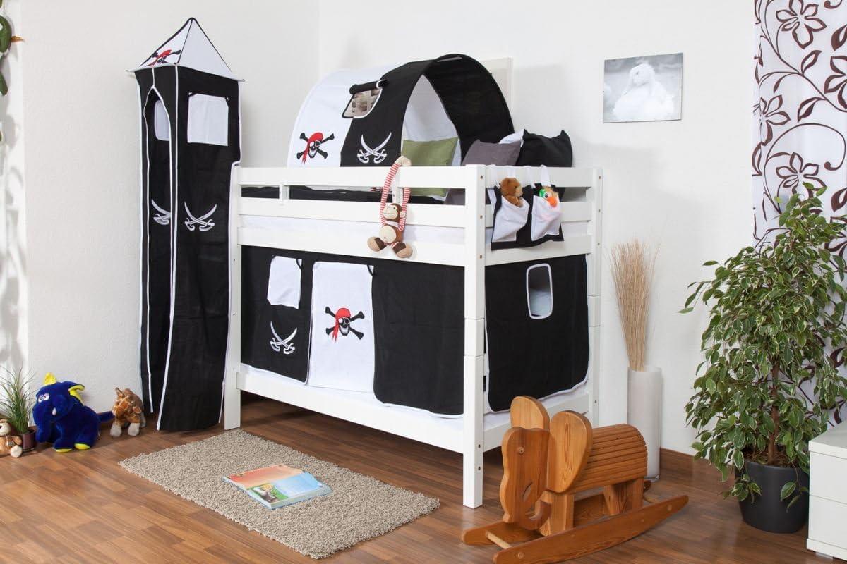 Blanca litera para las - de madera de haya maciza de 90 x 200 cm, divisible en 2 camas: Amazon.es: Bricolaje y herramientas