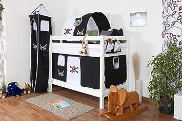 Etagenbett Für 2 Kinder : Weißes etagenbett für kinder buche massiv 90x200 cm teilbar auf 2