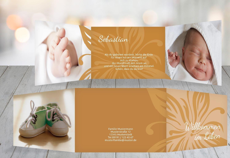Kartenparadies Geburtskarte Babykarte Blaume, hochwertige hochwertige hochwertige Babykarte zur Geburt inklusive Umschläge   20 Karten - (Format  148x105 mm) Farbe  DunkelGrün B01N4TXZ6D | Exquisite (in) Verarbeitung  | Sehen Sie die Welt aus der Perspektive des Kinde 2c40fd