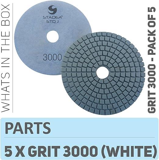Stadea Diamond Polishing Pads 3-Step for Concrete Travertine Terrazzo Countertop