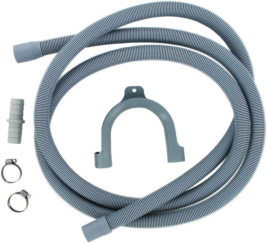 FIND A SPARE - Kit de manguera de desagüe de repuesto para lavadora, secadora, lavavajillas (2,5 m)